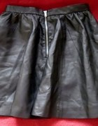 black leather skirt hm nowa zdobycz z sh