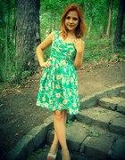 Zielona w kwiaty