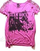 koszulka tshirt glam rock cekiny 46 48 xxl