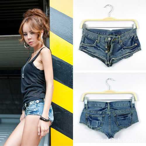 Mega krótkie spodenki jeans