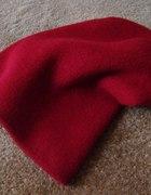 czapka beanie krasnal bordowa czerwona burgundowa