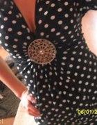 sukienka w kropeczki