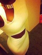 Elegancja sexowna biała sukienka