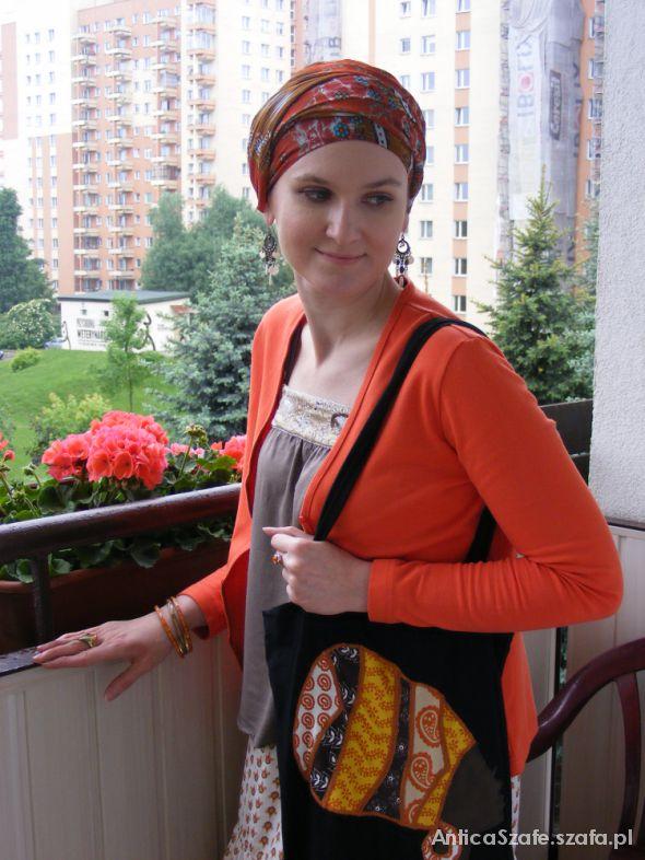 Mój styl Turban i pomarańcze