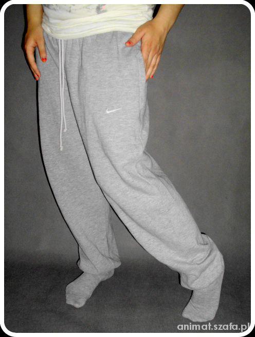 Spodnie dresowe NIKE szare dresy OLDSCHOOL roz M L w Dresy