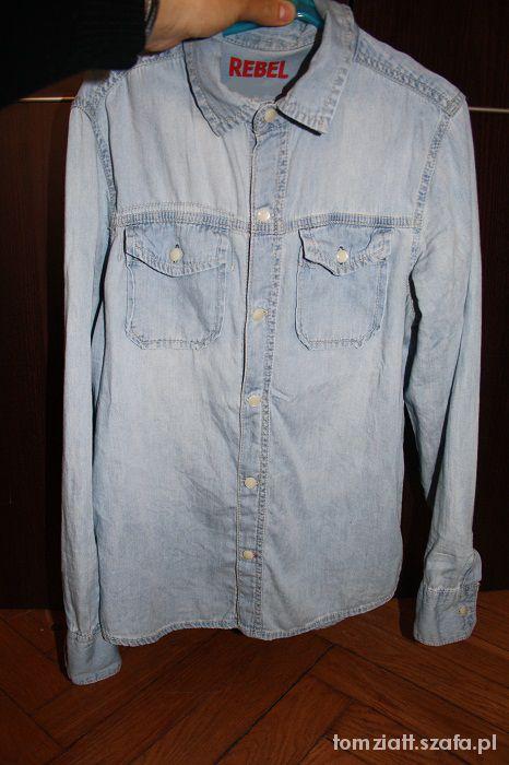 Jeansowa jasna koszula S
