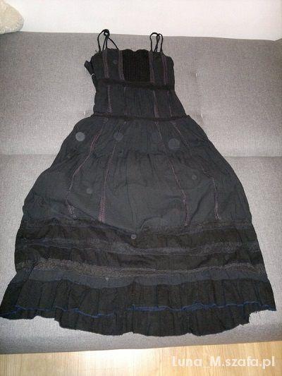 fea5e246a9 Oryginalna gotycka sukienka maxi czarna zwiewna w Suknie i sukienki ...