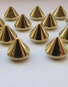 ćwieki złote stożki do przyszywania wys 7mm