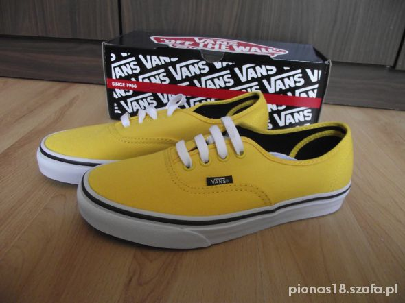 vans authentic żółte