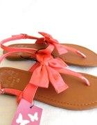 nowe sandały korakowe z piękną kokardą 36