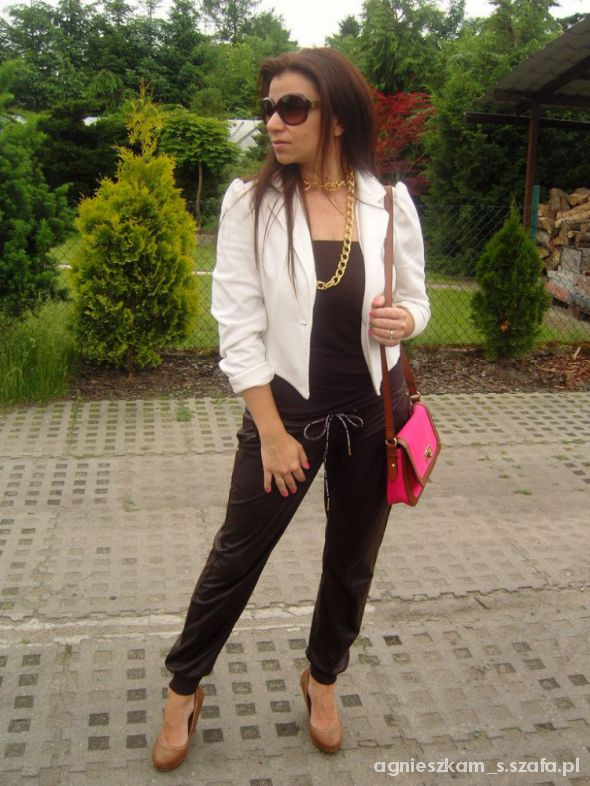 Eleganckie brown overalls plus pink