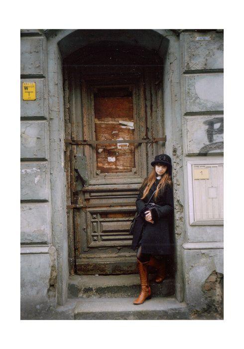 Vintage dziewczynka z zapałkami