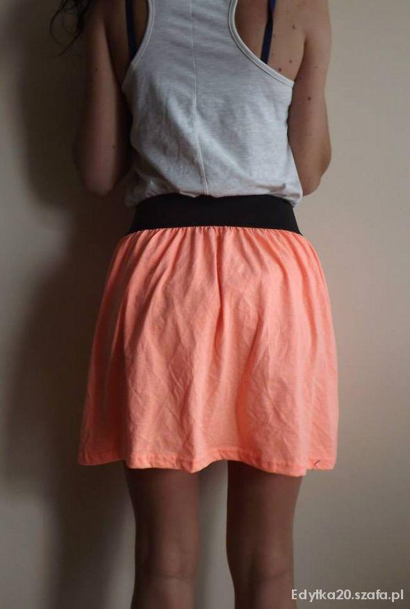 Nowa Oryginalna Spódniczka Neonowa Rozkloszowana S