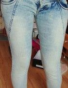 Terranova spodnie niskie biodrówki rurki xxs