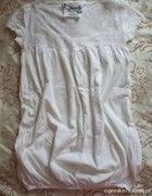 Bluzeczka z koronkową wstawką Denim