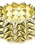 Bransoletka kolce złote