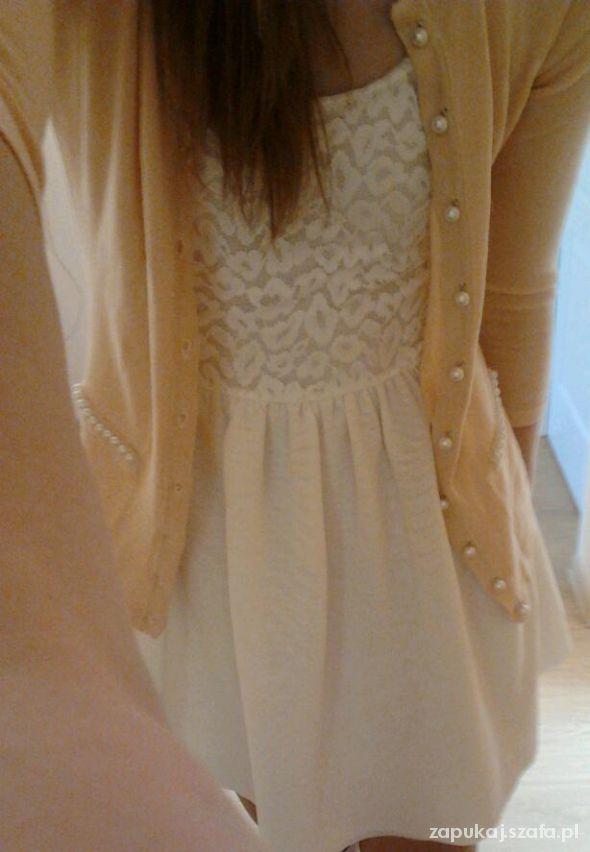 Romantyczne bershka biała sukienka bal wesele