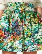 Zara floral skirt kwiaty