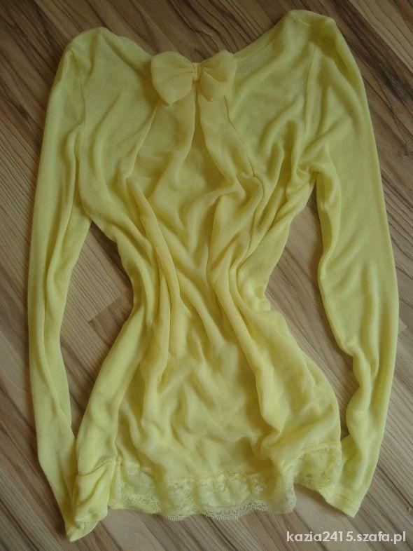 Cytrynowy delikatny sweterek
