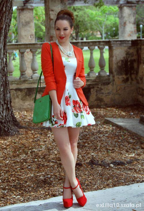 Romantyczne ROMANTIC FLORAL DRESS