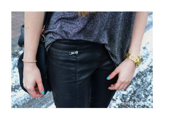 skórzane spodnie...