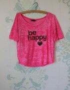 Neon pink BE HAPPY