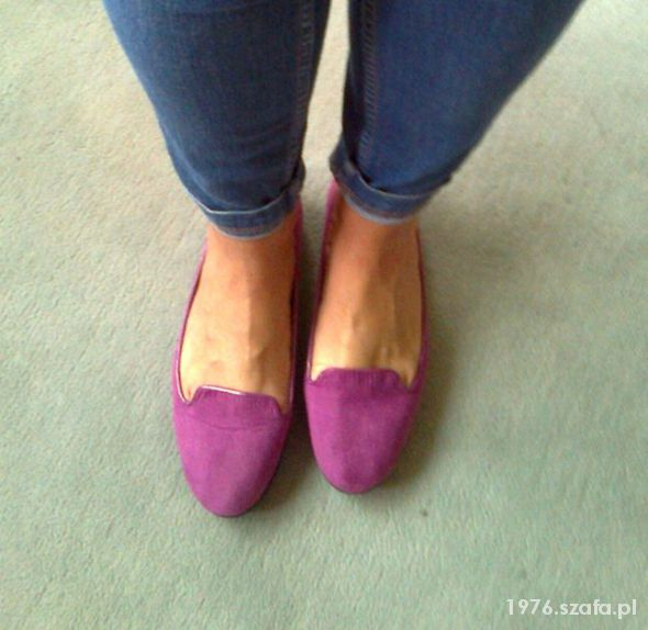 F&F SLIPPERSY LORDSY BALERINY FIOLET EUR 41 7