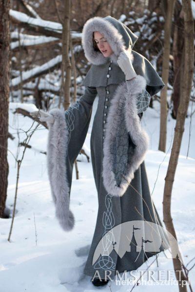 zimowy elfi płaszcz