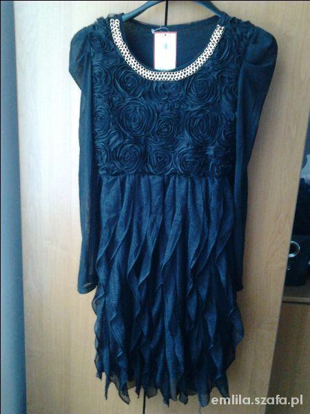 Suknie i sukienki Czarna Eleganska sukienka suknia