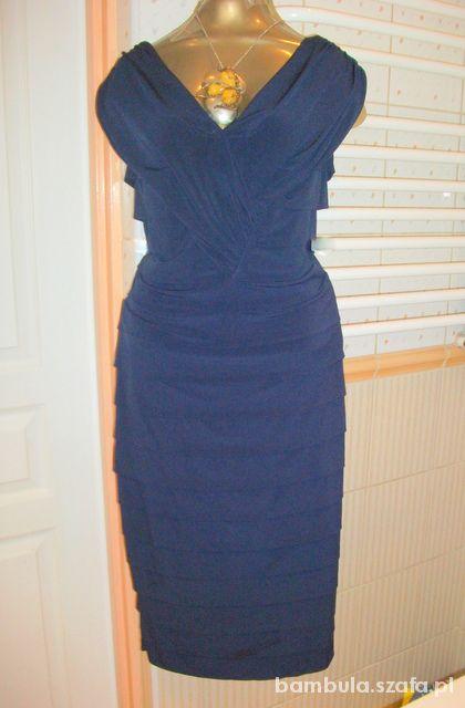 44e768ecaf Yulla piękna bandażowa gorsetowa granat 48 50 w Suknie i sukienki ...