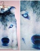 Bluzka z wilkiem