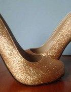 złote szpilki 36 rozmiar dobry jako 37 WYPRZEDAZ