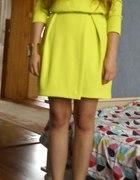 H&M Limonkowa sukienka