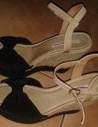 Sandały Koturny Tally