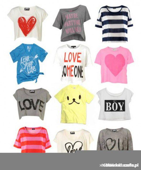 522494a299fa krótkie topy koszulki. Ubrania krótkie topy koszulki
