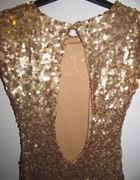 Seksowna złota sukienka z cekinów