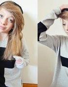 Blogerski sweter oversize z krzyżem