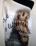bluzki i tuniki opadajace na jedno ramię