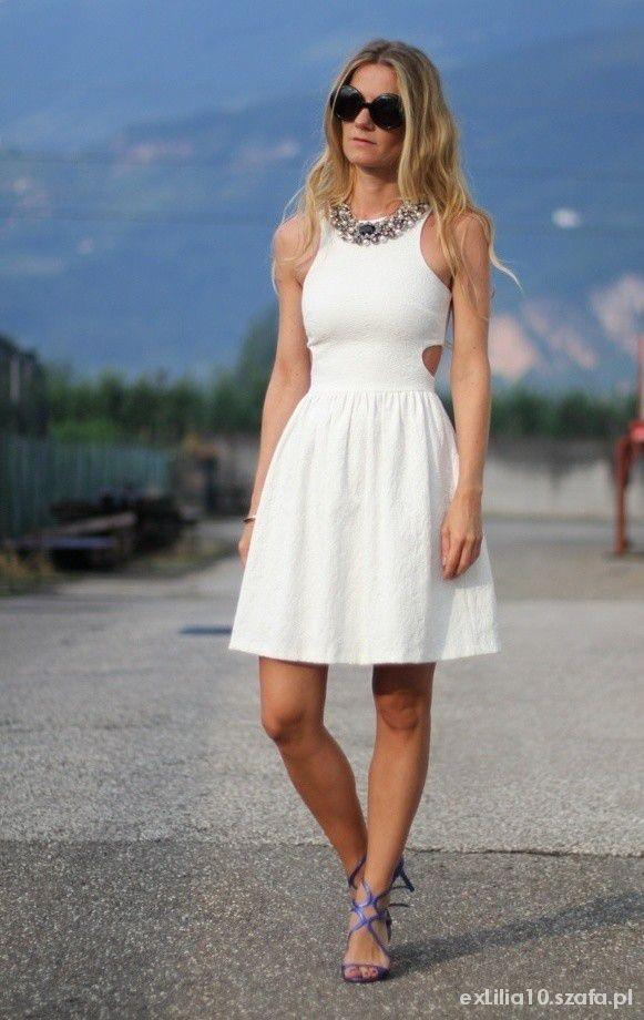 Eleganckie Biała princeska wycięcia