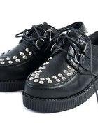 Creepersy creepers buty ćwieki skórzane