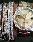 Śliczny Zegarek i Bransoletki