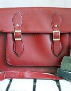 teczka cambridge satchel torebka bordo xxl...