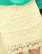 koronkowa spódniczka ażurowa kwiatki DONTBESHY...