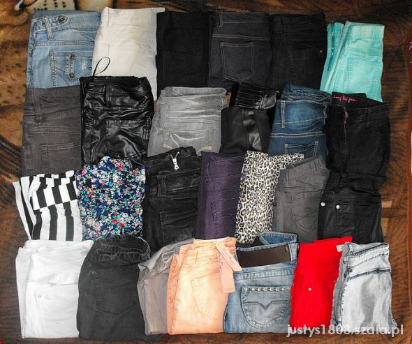 Spodnie rurki tregginsy skiny baggy