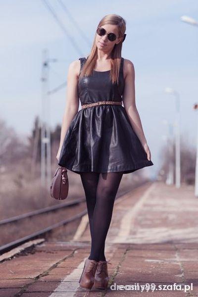 skórzana sukienka hm S