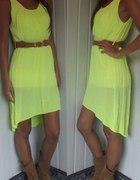 zolta sukienka neon