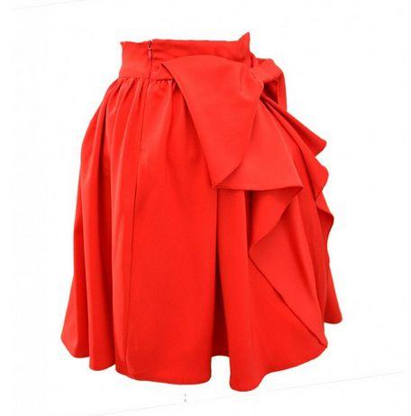Spódnice Czerwona spódnica z kokardą