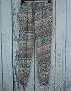 spodnie haremki wzorzyste