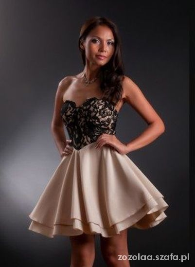 Wieczorowe sukienka gorsetowa