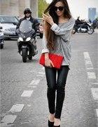 szara bluza oversize